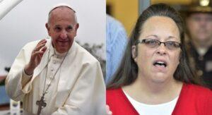 Kim Davis révèle à la télévision avoir secrètement rencontré le pape.