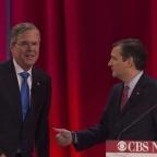 Jeb Bush ( à gauche) et Ted Cruz