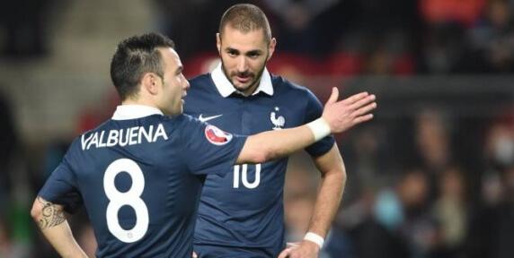 Mathieu Valbuena et Karim Benzema