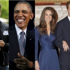 Jack Dorsey, le fondateur de Twitter, Barack Obama, Kate et William