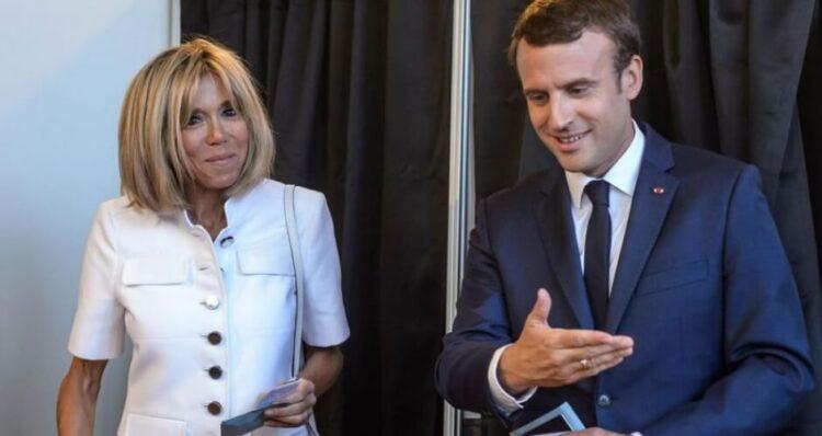 Brigitte Macron et Emmanuel Macron   leparisien.fr