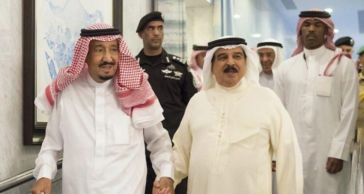 Les rois Arabie saoudite et du Bahrein