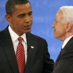 U.S. Democratic presidential nominee Sen. Obama and Republican presidential nominee Sen. McCain after the presidential debate in New York