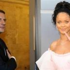 Emmanuel Macron et Rihanna /AFP /Abacapress