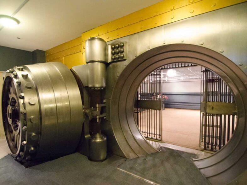 Coffre fort de banque