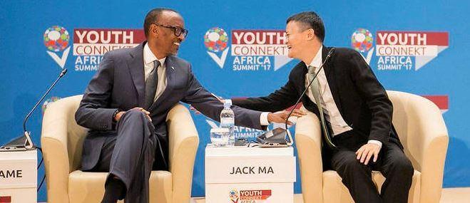 Paul Kagamé et Jack Ma