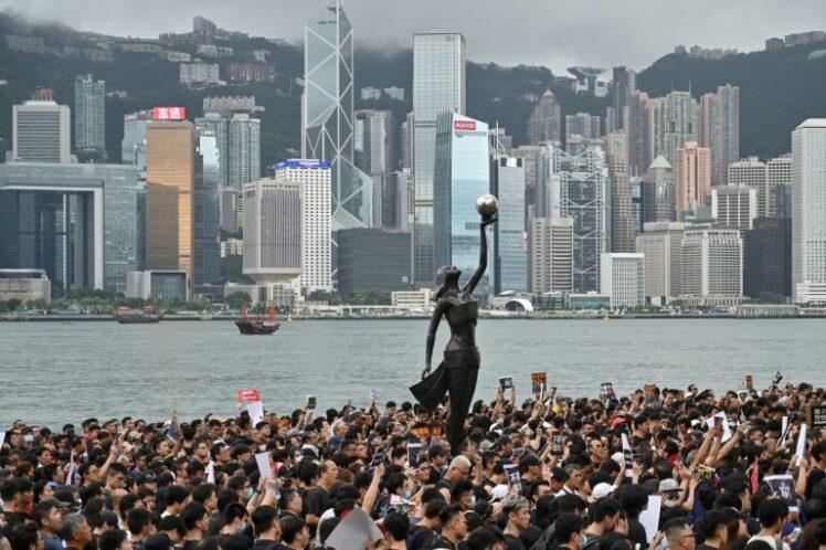 Manifestants a Hong Kong